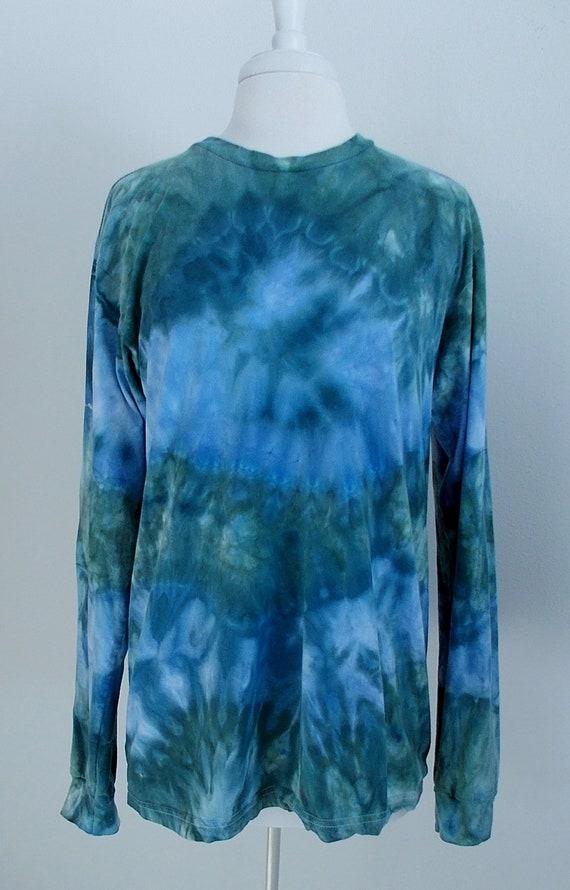 Ice-dyed Large Long Sleeve Unisex TShirt