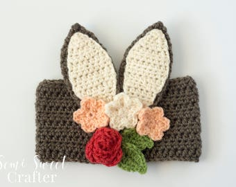 Crochet Pattern, Crochet Headband Pattern, Crochet Bunny Pattern, Crochet Easter Pattern, Crochet Bunny Headband Pattern