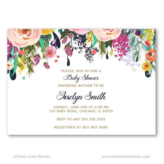 Flower baby shower invitation invitacion baby shower espaol il570xn filmwisefo