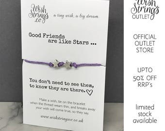 good friends are like stars - WishString Wish Bracelet