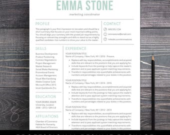 resume template professional and modern resume cv template for mac or pc word - Resume Template Download Mac