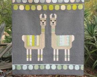 Lloyd and Lola Quilt Pattern - Quilt Pattern - Elizabeth Hartman - Llama Quilt Pattern - Pillow Pattern - Baby  or Lap Quilt Pattern