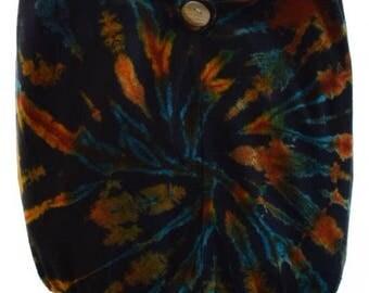 Hobo bag, Cotton Tie Dye shoulder bag,  Messenger, Hippie, Gypsy Sling, Hippy, Hobo, Crossbody, Monk