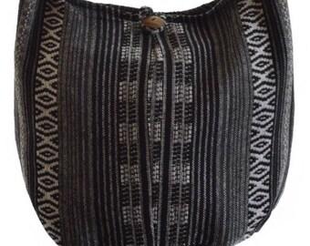 Hobo bag, Woven cotton shoulder bag,  Messenger, Hippie,  Gypsy,  Sling, Hippy,  Hobo,  Crossbody