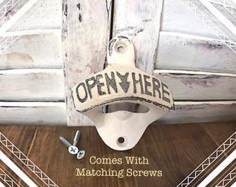Bottle Opener with matching screws | Wall Mounted | Beer Bottle Opener
