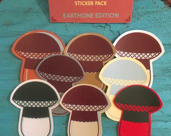 Big Bolete Sticker Pack (Earthtone Edition)
