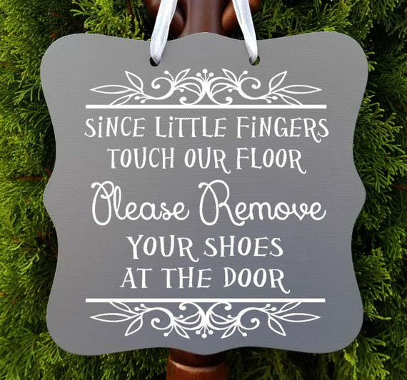Please Remove Your Shoes, Home Decor, Welcome Sign, Daycare Sign