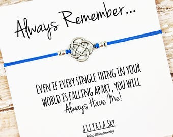 Friendship Bracelet | Support Card | Encouragement Gift | Best Friend Bracelet | There For You Card | Hang in There | Friendship Gift