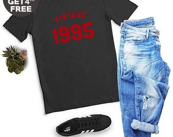 Vintage Shirt 23rd Gifts Birthday 1995 Shirt Birthday Tshirt Number Shirt Graphic Women Tshirt Gifts Ideas Birthday Gifts Men Tshirt Women