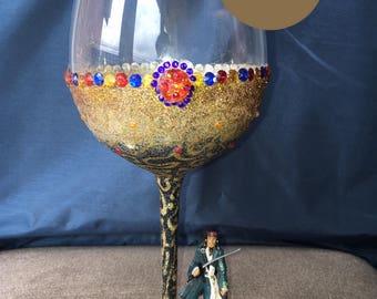 Disney Jack Sparrow Glitter Wine Glass