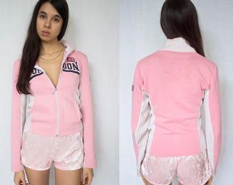 LONDON PINK JACKET -uk, y2k, spice girls, paris hilton, von dutch, cute, pastel, sweater, jumper, cyber, hoodie, knit-