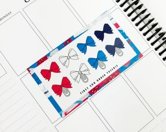Firework // Bows (Glossy Planner Stickers)