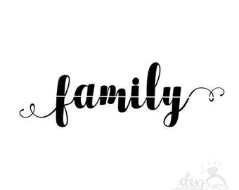Family SVG | Cut File | DXF files | svg file for Silhouette | svg file for Cricut | family cut file | family decal | family stencil