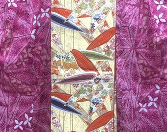 "OBI Fukuro obi ""bamboo leaf ""Nishijin brilliant fabric not tailoring golden yarn Japanese kimono obi"