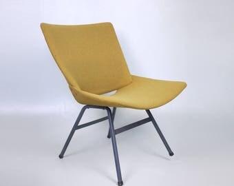MID CENTURY LOUNGE Chair // Easy Vintage chair in Mustard // Niko Kralj designer