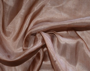 """SK003 Sale Item  100%  Pure Silk Lightweight Copper  Crepe Nature Fabric 45"""" W  By  Yard"""