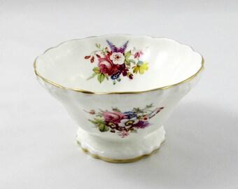 Hammersley Sugar Bowl with Flowers, Vintage Bone China, No Creamer, Sugar Bowl ONLY