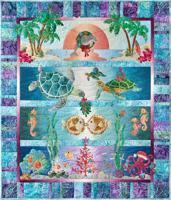 Tropical Noel Quilt Kit With Laser Cut Appliques