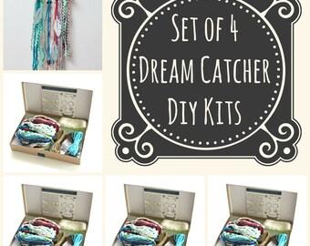 Set Aus 4 Blaue DIY Dream Catcher Kits. Tun Sie Es Selbst Handwerk Kit  Geschenk