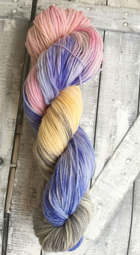 Hand Dyed Yarn,The Fairy Court Yarn,Fingering Weight,2 ply,80/20 Superwash Merino,100 gram,indie dyed yarn,knit & crochet,Toad Hollow yarns