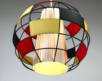 Beautiful string ceiling light from 1950s - Rockabilly midcentury light atomic age vintage lamp 50s design