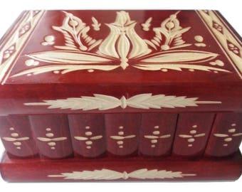 Jewelry box puzzle box secret box magic box mystery challenge adventure opening with hidden key treasure brain teaser storage box flower box