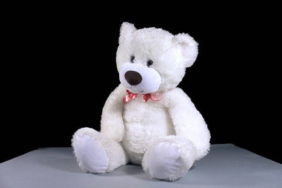 Large Bear Stuffed Animal, Teddy Bear, Animal Adventure, Polar Bear, White, Fluffy, Soft, Plush, 26 Inch
