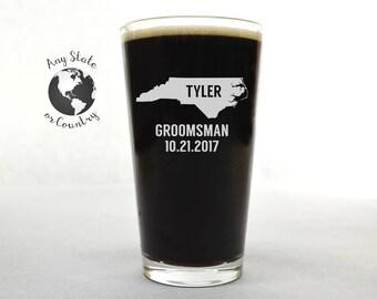 Groomsman Pint Glass - Beer Glass - Custom Pint Glass - Custom Beer Glass - Pint Glass - Wedding Pint Glass - Beer Glass Personalized