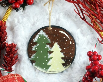 "Wooden Ornament, Christmas Tree Ornament - 3"" Holiday Ornament"