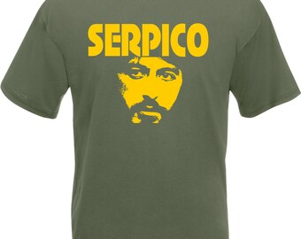 Serpico T-Shirt - Al Pacino, Classic Film, S - 2XL, Various Colours