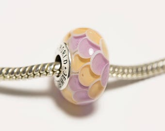 color change lampwork bead silver cored bead fits pandora european charms heady