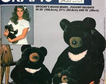 McCalls 713 - Brooke Shields Moon Bears Plush Toys