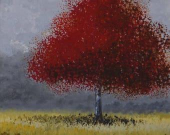 """Acrylique sur papier """"Arbre"""" - Oeuvre unique et originale de Géraldine Theurot"""