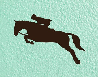 Horse Decal | Show Jumping Decal | Horseback Riding Decal | Horse Hunter Decal | Show Jumping Sticker | Horse Sticker | Tumbler Decal