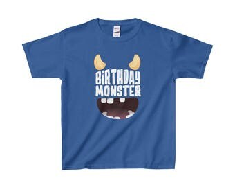 Youth Birthday Monster T Shirt  Special Edition Multiple Colours Available  Limited Quantities
