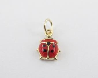 Lady Bug Charm 14k Yellow Gold pendant