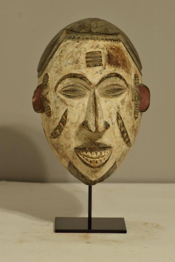Mask African Igbo  Spiritual Maiden Nigeria Handmade Male Dancing Mask