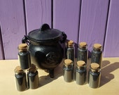 Witches Black Salt, Glass Vial, Portable Protection, Wiccan Talisman, Pagan Altar, Home Blessings, Apothecary Jar, Spellwork and Spells
