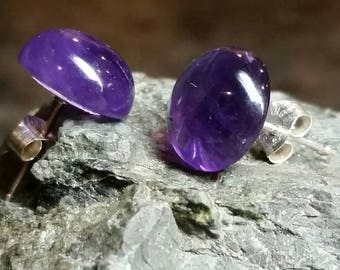 Amazing Amethyst & Sterling Silver Earrings