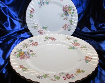 "1952 Minton / Mintons Vermont Pattern 10 5/8"" Dinner Plate (s) England Bone China"
