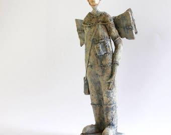 Ceramic Ikarus 3.44, Ceramic Sculpture, Man of Clay, Unique Ceramic Figurine, Ceramic Figurine
