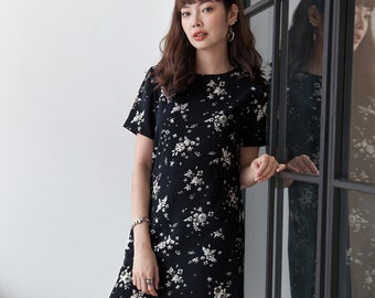 Little Floral in Black Dress