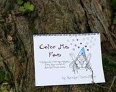 "Fairy coloring book, faerie coloring book, fantasy coloring book, ""Color Me Fae"""