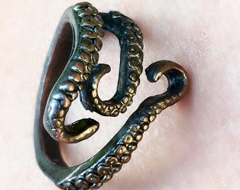 Adjustable Octopus Tentacle Wrap Ring  *Free Shipping*