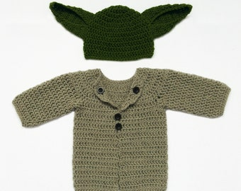 Baby Yoda outfit, Star Wars inspired costume, Yoda Baby Hat, Baby Yoda costume, Star Wars Baby, Newborn Star Wars Gift