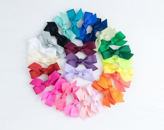 Hair Bows | Classic Hair Bow | Ribbon Bow | Bows for Baby | Toddler Bow | Solid Color Bow | School Bow | School Uniform Bow | Bows for Girls