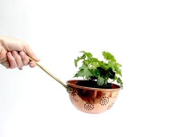 Long Handled Copper Colander