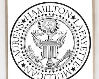 HAMILTON, HAMILTON Poster, Alexander Hamilton, LaFayette, Hercules Mulligan, John Laurens, Rebels, Hamilton Print, Musical, Broadway Print