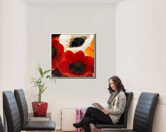 Paintings on Canvas, Oil Painting, Large Art Painting, Wall Art on Canvas, Large Wall Art, Oil Paintings Flowers, Oil on Canvas Art