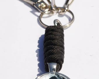Keychain head skull/29 colors to choose/Customize/Keychain/skull cords
